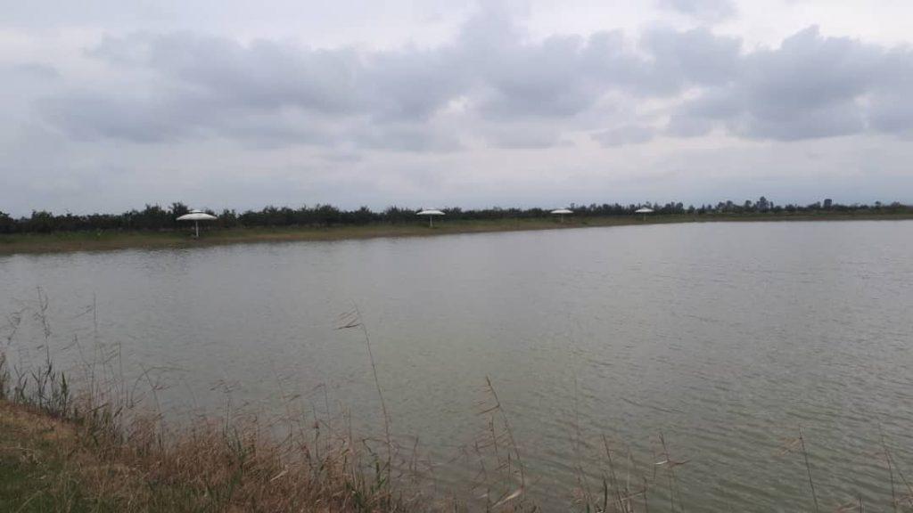 فروش باغ و استخر ماهی ۳ هکتار جاده فرح بعد سه راه بنیاد بر اصلی